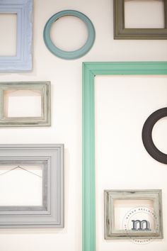 van Gogh painted picture frames make a perfect gallery wall!