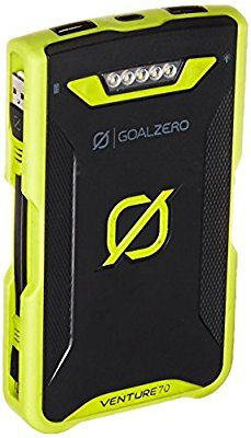 Amazon.com: Goal Zero Venture 70 17700mAh Waterproof Power Bank, 2x Micro USB to USB Cables: Garden & Outdoor