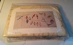 "BIRDS #Crewel #Embroidery #PartyLine Design by Blanche Virgien 13""×25"" HTF NEW #BlancheVirgien"