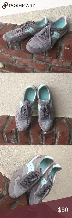 Saucony Sneakers Light grey / mint color. Great condition. Saucony Shoes Sneakers