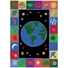 Joy Carpets Earth Works Kids Area Rug - 1405-