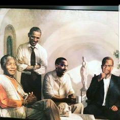 Black History, Art History, Obama Daughter, Barack Obama Family, Barrack Obama, Black Art Pictures, Barack And Michelle, Art Thou, Nelson Mandela