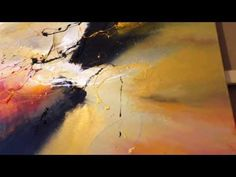 Romance, painting by Dan Bunea, living abstract paintings, www.danbunea.ro - YouTube