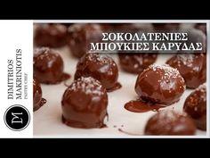 Σοκολατένιες Μπουκιές Καρύδας   Dimitriοs Makriniotis - YouTube Greek Recipes, Pudding, Cookies, Chocolate, Breakfast, Youtube, Desserts, Food, Biscuits