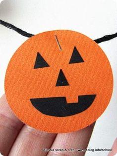 Arriva Halloween: ghirlanda di zucche di carta