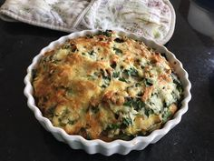 Rainbow chard and veg crustless quiche. Layers of sliced long shallots, mushrooms and vine tomatoes topped with torn chard and sliced stems and grated cheese. By Helen K Rainbow Chard Recipes, Grated Cheese, Stems, Quiche, Tomatoes, Stuffed Mushrooms, Layers, Vegetarian, Breakfast