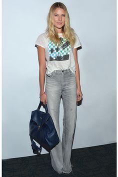 Le jean taille haute de Dree Hemingway