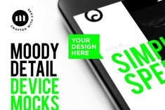 Moody Device Detail Mockups by Corey Moen on @creativemarket