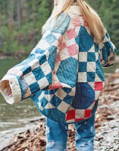Diy Fashion, Fashion Outfits, Fashion Design, Quilted Clothes, Sustainable Clothing, Mode Outfits, Trendy Outfits, Quilted Jacket, Ethical Fashion