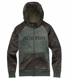 Burton Sudadera con Cierre Camo Verde Militar XL Ofertas especiales y promociones  Caracteristicas Del Producto: 55% algodón, 45% poliéster, de botell