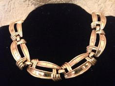 Beautiful TRIFARI Gold Tone Collar Necklace by GENEVEVES on Etsy