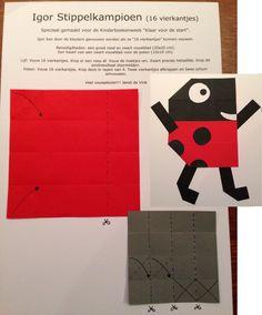 Vouwreeks van Janet de Vink Igor stippelkampioen Preschool Crafts, Ladybug, Stage, Van, Sports, Insects, Hs Sports, Vans, Sport