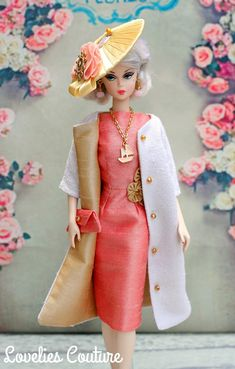 OOAK Silkstone Vintage Barbie Fashion Royalty by Katia - Palm Beach Brunch Doll Clothes Barbie, Vintage Barbie Dolls, Barbie Dress, Pink Barbie, Barbie Outfits, Barbie Stuff, Doll Stuff, Barbie Fashion Royalty, Fashion Dolls