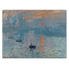 Find it at the Foundary - Impression Sunrise Canvas Art by Claude Monet