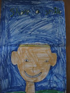 Kristopher Gottlieb, age 9  3rd grade, Marion st Kristopher says that when you smile people will always smile back at you. When You Smile, Always Smile, Kite, Campaign, Pure Products, People, Painting, Dragons, Painting Art