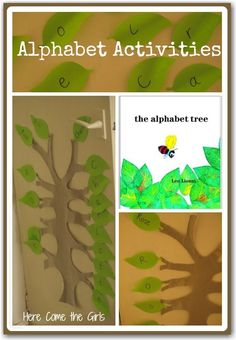Alphabet activities for preschoolers - a great way to recognise the letters in their name.
