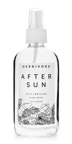 Herbivore Botanicals After Sun Body Mist with soothing aloe vera, cooling mint and therapeutic laven