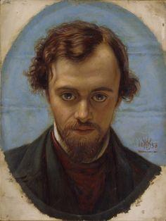 portrait of Dante Gabriel Rossetti by William Holman hunt-  1853