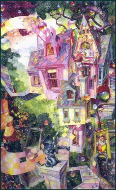 """""""Grandpa's Walk"""" ~ Daniel Merriam ~ Watercolorist Extraordinaire ~ Miks' Pics """"Daniel Merriam lll"""" board @ http://www.pinterest.com/msmgish/daniel-merriam-lll/"""