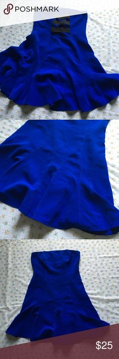 "* Mustard seed Royal Blue strapless strappy dress Absolutely STUNNING Royal blue color ""mustard seed"" (boutique brand) dress. Excellent pre loved condition. Still looks brand new!! Empire waist. Strapless. Strappy open back adds a little fire to this piece! Size small.  All items are negotiable! I accept tons of offers! Please make an offer through the offer button or bundle to get a discount! No trades, please! 07/09 #101 Mustard Seed Dresses Mini"