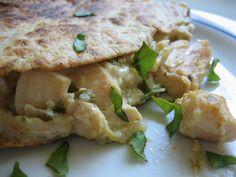 Christine Cooks: Chicken Feta Quesadilla & Chicken Stuffed Tomato