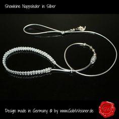 Showleine-Ausstellungsleine-Leder-Strass-Silber-5