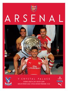 v Crystal Palace, August 16, 2014 The official Arsenal Matchday programme