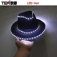 Light Up LED Hip Hop Jazz Hats Cap Flashing e2c7ac292dcb
