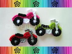 Free Crochet Motorcycle Applique Pattern | Applique Patterns