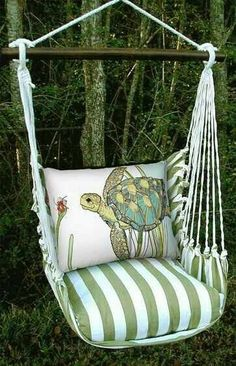 Love to have a swing chair like this..
