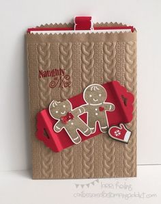 Christmas Gift Card Holder - SU - Cookie Cutter Christmas