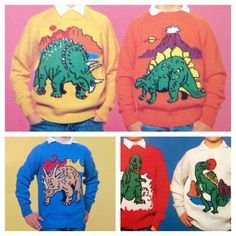 Dinosaur jumper knitting pattern sweaters for children and adults dk or 4 ply intarsia charts vintage character knitting – Knitted Sweater Bloğ Jumper Knitting Pattern, Knitting Charts, Baby Knitting Patterns, Knitting Yarn, Sweater Patterns, Kermit, Dinosaur Jumper, Easy Knit Baby Blanket, Knit Patterns