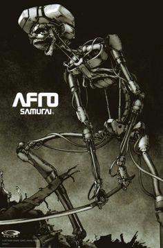 Afro Samurai poster, 2006 by Takashi Okazaki