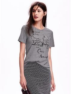 Relaxed Graphic Tee for Women   Old Navy