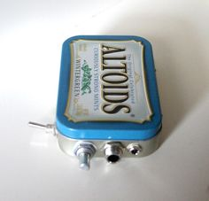 Altoids Pocket Guitar / Headphone / MP3 Amp with Speaker / Volume Control / 10X Gain