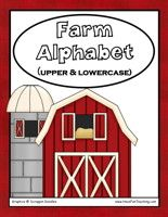 Farm Alphabet Letter Matching Activity: Match the uppercase letter cards to the lowercase letter cards.  Information: Alphabet, Letters, Uppercase Letters, Lowercase Letters, Farm Theme, Farming Information: Alphabet, Letters, Uppercase Letters, Lowercase Letters, Farm Theme, Farming