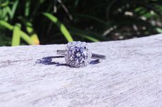 #Sanders Jewelers | #Gainesville, FL | Diamond halo engagement ring