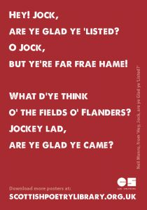 Today's Poetry Poster | Scottish Poetry Library
