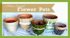 Nature Inspired Flower Pots Spring Crafts  Spring DIY Art by erin leigh