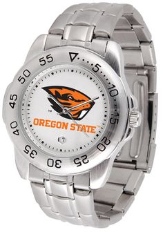 Mens Oregon State Beavers - Sport Steel Watch
