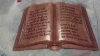 CNC Project Engraved Cherry Wood Bible Book created in Vectric Aspire Software