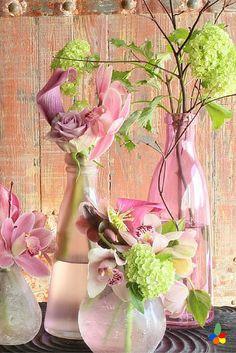 This easy pink flower arrangement makes me long for Summer... #flower home decor, #pretty flower arrangement   https://www.iflowergift.com/flower-subscription
