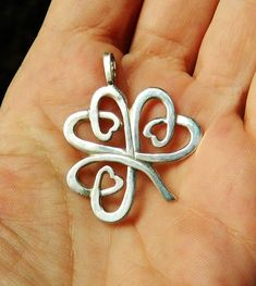 Lucky Shamrock sterling silver Celtic charm by YANKAcreations - SOLD and RELISTED again! Only one left!
