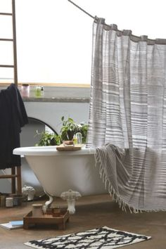 Shop 4040 Locust Wyatt Space Dyed Shower Curtain at Urban Outfitters today. We carry all the latest styles, colors and brands for you to choose from right here. Relax, Bathroom Inspiration, Bathroom Ideas, Hall Bathroom, Washroom, Shower Ideas, Home Look, Home Staging, Home Interior