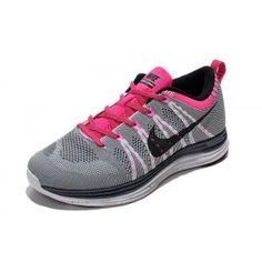 competitive price 18f57 8f147 Femme Nike Flyknit Lunar1+ Gris Rose Noir