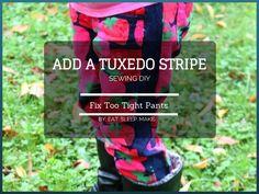 Fix Too Tight Pants with Tuxedo Stripes
