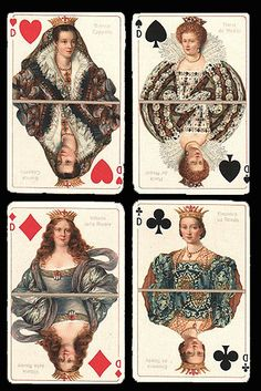 antique playing cards - nana and Grandy's diamond wedding anniversary...idea? Their faces on old cards&frame?