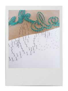 STRING-ART | NORMAL PATTERN: 1. Attach the pattern sheet on the wall, on a door or on a wood panel, by using tape. 2. Hammer small nails through each dot noted on the printed pattern sheet. 3. String a thread from nail to nail so the outer lines of the text or image become visible. 4. Carefully tear away the pattern sheet.