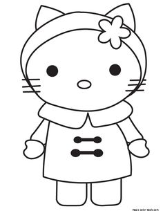 Free Hello Kitty Printable Coloring Pages