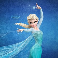 Elsa from Frozen - .loved the critical acclaim for yet another blonde Disney princess movie. Frozen Disney, Film Frozen, Walt Disney, Disney List, Frozen Art, Frozen Anime, Frozen 2013, Vestido Elsa Frozen, Frozen Elsa Dress
